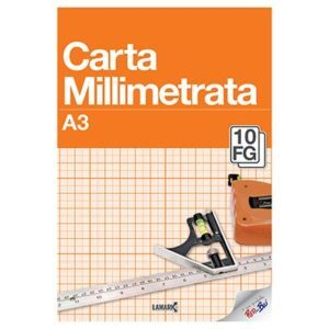 Blocco carta millimetrata A3 Red in Blu - Abc La Cartoleria Pavullo
