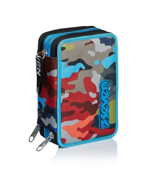 Astuccio Seven 3 zip Adventure Camo - Abc La Cartoleria Pavullo